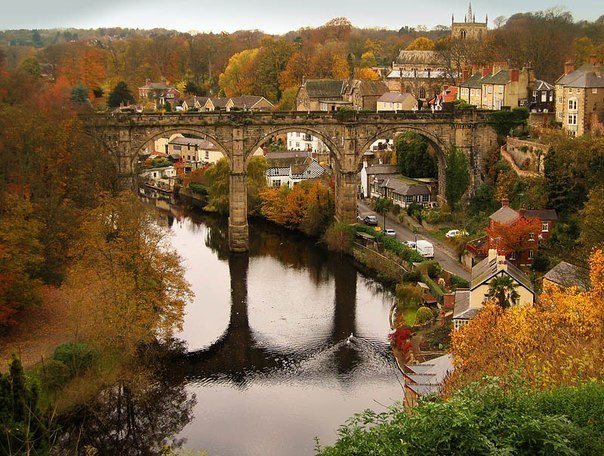 Мост Knaresborough, Англия.